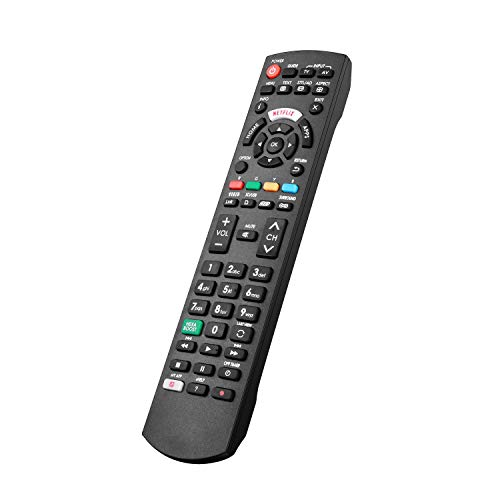El nuevo Mando a Distancia Panasonic con NETFLIX, HOME, APPS Botón para todos los televisores inteligentes LCD LED 3D HD de Panasonic; No es necesario configurar un control remoto universal de TV