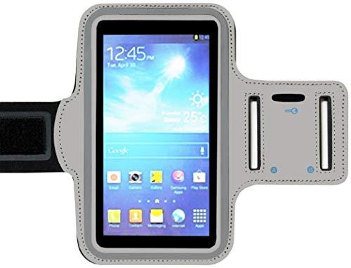 ADEL - Brazalete Deportivo de Microfibra, para teléfono móvil, 5,5 Pulgadas, Compatible con Huawei P7, Color Gris