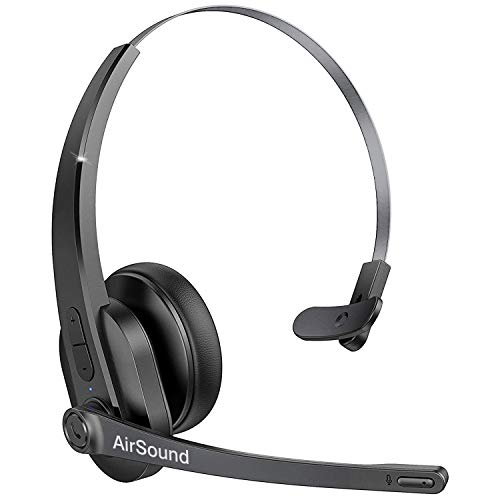 AirSound M99 Pro Bluetooth V5.0 Wireless Headset   Flexible Microphone, for Conference Calls, 24 Hr Talk Time, CVC 8.0 Noise-Cancelling On-Ear for Office Business Online Meeting, Call Centre.