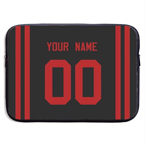 Football Laptop Sleeve Waterproof Neoprene Laptop Case Briefcase Custom Football Laptop Bag for 13-13.3 InchLaptop HP Dell Acer Lenovo Ultrabook Notebook - 28 S. F. 49er Black