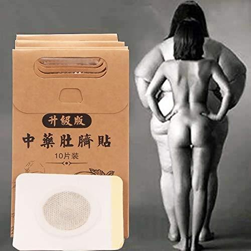 Abnehmen Patches,Körper abnehmen Patch,FettVerbrennung Bauchfett Weg Aufkleber Magnete,Sliminazer Pflaster Traditionalle Chinesische Fettverbrennung Slimming Patch Gewichtsverlust Aufkleber,10PCS