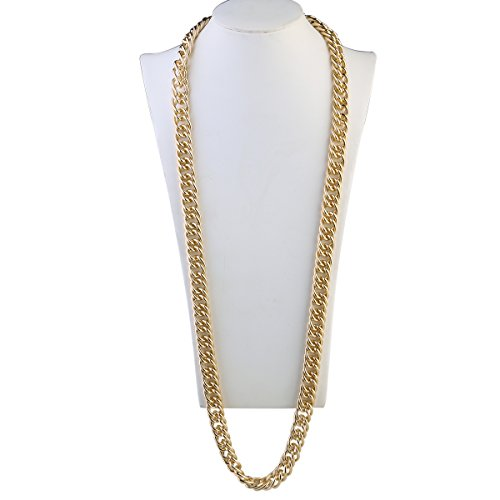 OULII Hip Hop Necklace Rapper Necklace 95cm Gothic Hip Hop Chunky Chain for Men Women Jewelry Decoration Gold