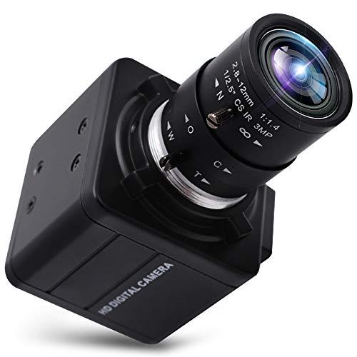 SVPRO 4K Ultra HD Webcam 2.8-12mm lente varifocal USB Mini cámara web 3840x2160@30fps zoom óptico USB con cámara Sony IMX317 Sensor cámara, USB UVC Conferencia Webcam para Mac/Window/Linux