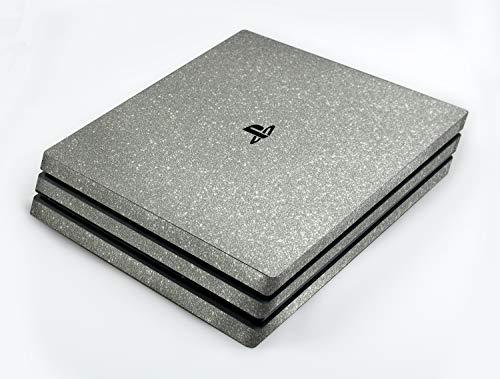 atFoliX Skin compatible avec Sony PlayStation 4 Pro PS4 Pro, Sticker Autocollant (FX-Glitter-Sterling-Silver), Feuille scintillante réfléchissante