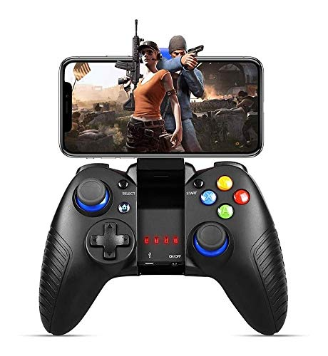 Game Controller For Mobile, Wireless Gamepad Comptible for Android and iOS with Retractable Bracket Support 6-inch Mobile Phones- Direct Play Game controller-compatible with most devices