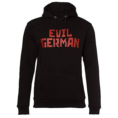 Rammstein Herren Kapuzenpullover Evil German Offizielles Band Merchandise Fan Hoodie schwarz mit rotem Front und Back Print (3XL)