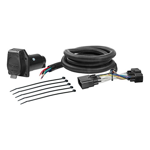 CURT 56307 Vehicle-Side Custom RV Blade 7-Pin Trailer Wiring Harness for Select Ford F-150