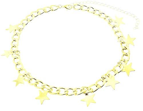 Choker ketting - kleine sterren - vrouw - grote ketting - kraag - vrouw - meisje - origineel cadeau idee - ketting - verjaardag - kerstmis - sieraden - sierraden - goud