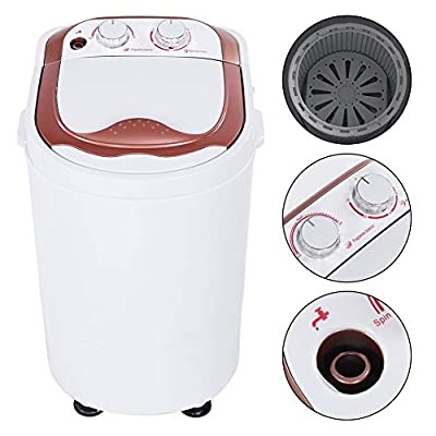 Mini Washing Machine, Portable Single Tub Washing Machine Full-Automatic Laundry Washer Spinner UK Plug for Dorms Apartments 54 x 35 x 34cm