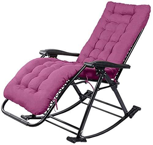 YAOHONG Colchonetas, sillas portátiles, Cojines, Patio Interior y Exterior terraza en el jardín, sillas Plegables de Cubierta Cómodo sillón reclinable