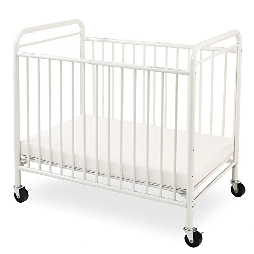 LA Baby The Condo Metal Evacuation Window Crib White