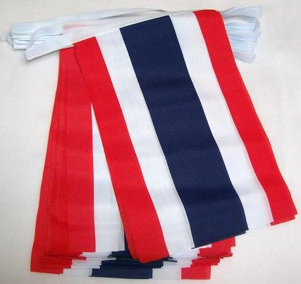 AZ FLAG FAHNENKETTE Thailand 6 Meter mit 20 flaggen 21x14cm - THAILÄNDISCHE Girlande Flaggenkette 14 x 21 cm