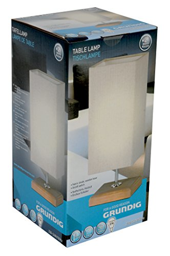 Grundig 871125222225 Lampe de table, Bois, Wood, 12 x 12 x 31 cm