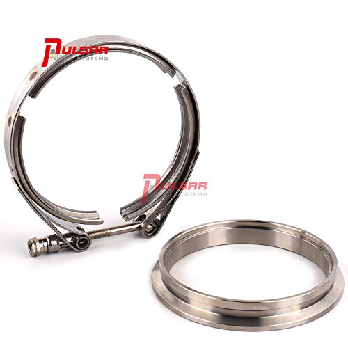 PULSAR S400 T4 Turbo 4' Stainless Steel Flange Clamp Kit