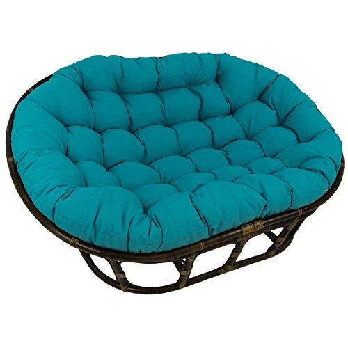 Blazing Needles Solid Outdoor Spun Polyester Double Papasan Cushion, 65