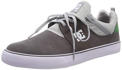 DC Shoes Heathrow Vulc, Zapatillas de Skateboard para Hombre, Gris (Grey/Grey/Green Xssg), 39 EU