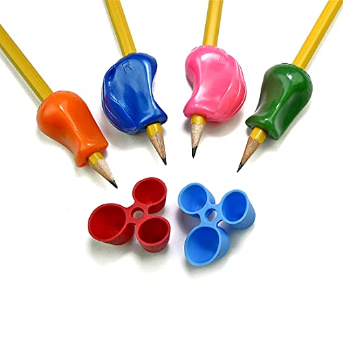 The Pencil Grip BGP-006 Pencil Grip Bestsellers 6 Pack for Righties and Lefties with 2 Original Pencil Grips, 2 Crossover Grips and 2 Claw Grips, Assorted