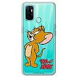 Movilshop Funda para [ OPPO A53 / A53s ] Tom y Jerry Oficial [Jerry Derecho] Warner Bros de Silicona Flexible Transparente Carcasa Case Cover Gel para Smartphone.