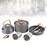 Woniu Personas Portátil Camping Set Pot, Malla Coccion con Fácil De Transportar para Caminar