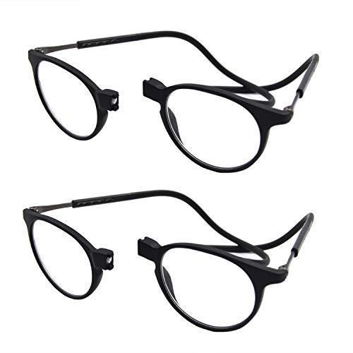 Accurate Gafas de lectura plegables unisex de 2 piezas con conexión frontal...