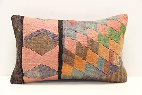 Modern kilim pillow cover 12 x 20 inch