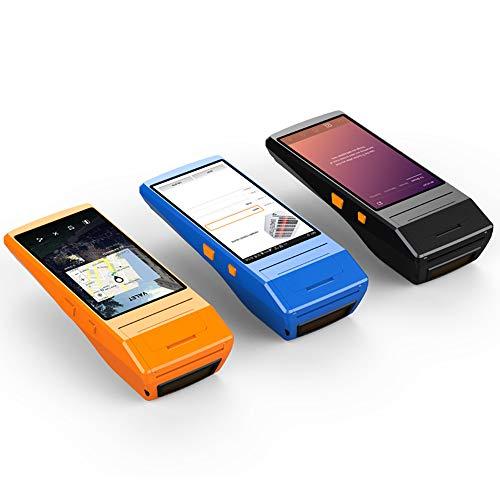 Diy Family Store Handheld POS-Terminal PDA 4G 5,5 Zoll 800W Kamera mit 58mm Thermodrucker drahtlose Bluetooth & WiFi Android-System mit Thermodrucker eingebaut und Barcode-Scanner