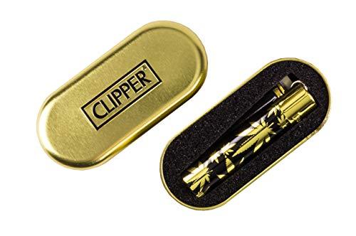 Weedness 1 x Clipper Feuerzeug Gold Spezial Edition - Limited Clipper Gas Feuerzeug Bong Feuerzeug Pfeifen Feuerzeug Einweg Pfeife