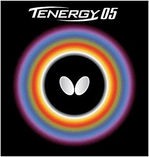 Tenergy 05 Table Tennis Rubber | Butterfly Table Tennis Rubber | 1.7, 1.9, 2.1 Sizes | Red or Black | 1 Table Tennis Racket Rubber Sheet | Professional Table Tennis Rubber