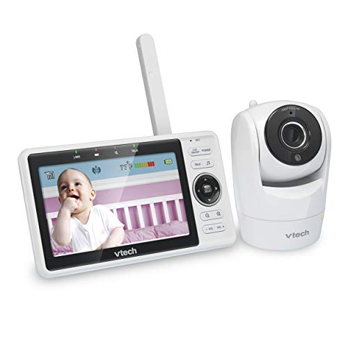 VTech VM901 WiFi Video Baby Monitor with Free Live Remote Access, 1080p Full HD Camera, 5' Screen,...