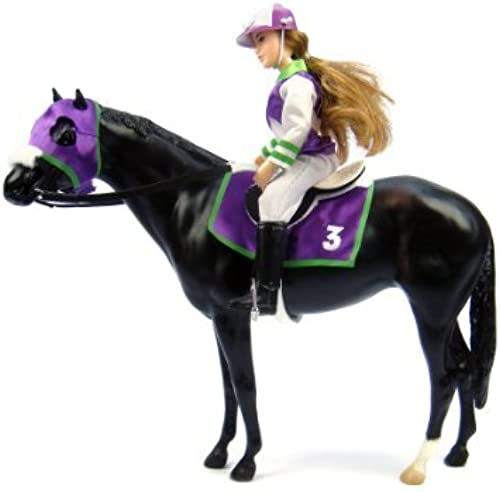 Breyer Let's Go Riding  - Traditional Toy Horse Model with Rider by Breyer