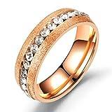 brave リング メンズ レディース チタン 指輪 ファッション アクセサリー (ピンクゴールド 25)