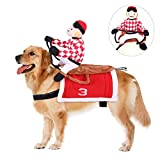 Halloween Pet Dress Up Costumes, Pet Supplies Knight Style Clothes,Cowboy Rider Dog Horse Racing Cospaly Costume,for Halloween Day Dogs Clothes,Pet Gifts