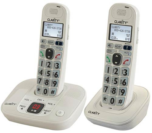 Clarity D714 Moderate Hearing Loss Cordless Phone with (1) D704HS Expandable handset-Bundle