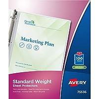 Top-Load Polypropylene Sheet Protectors, Letter, Semi-Clear, 100/Box (並行輸入品)