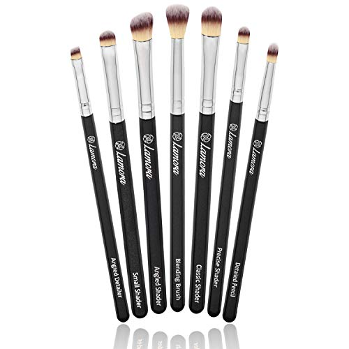 Eye Makeup Brushes Eyeshadow Brush Set - 7pcs Soft Synthetic Eyeshadow Blending Brush Kit - For Blending Eyeshadow, Eyeliner, Crease, Eyebrow - Long Lasting, Apply Better, Flawless Look Makeup