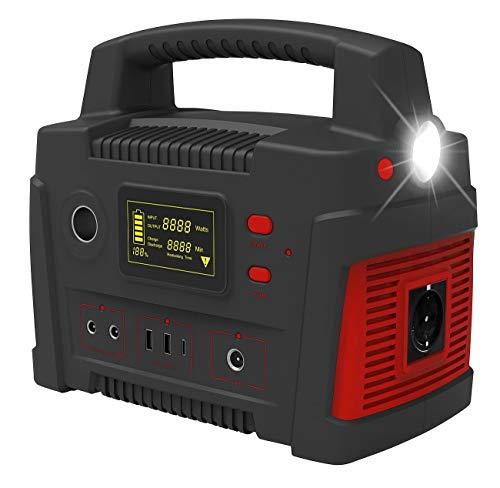 reVolt Powerpack: Powerbank & Solar-Konverter, 114 Ah, 420 Wh, 230 V, 12 V, USB, 600 W (Stromspeicher)