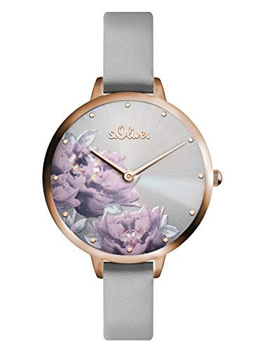 s.Oliver Damen Analog Quarz Armbanduhr mit PU Armband SO-3537-LQ