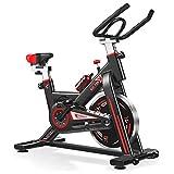 NXLWXN Bicicleta Estática De Spinning Deportiva para Estudio,Cardiovascular, Ciclismo, Hogar, Gimnasio, Monitor LED, Bicicleta Estática con Sensores De Pulso De Mano, Unisex
