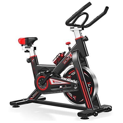Sportdraaiende hometrainer voor studie, cardiovasculair, fietsen, thuis, sportschool, LED-monitor, hometrainer met handpulssensoren, unisex