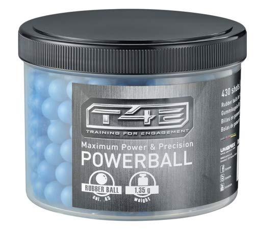 Umarex 100 Stück T4E Powerballs Rubberballs cal43 blau