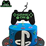 KAPOKKU Game On Cake Topper Game Themed Birthday Party Supplies Video Game Cake Ddecorations for Boys