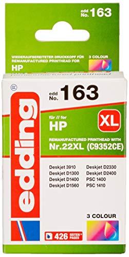 edding 18-163 Druckerpatrone EDD-163, Ersetzt: HP Nummer 22 C9352AE, Einzelpatrone, 3-farbig
