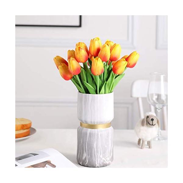Ruosaren Ramo de flores artificiales de seda con tulipanes para boda, para el hogar, jardín, fiesta, decoración floral