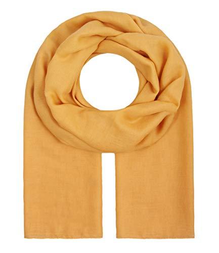 """Majea Tuch Aurora"""" großes Damen-Halstuch XXL Schal Damen Tuch Halstuch einfarbig uni unisex unifarben Schals und Tücher, 180x105, Senf-gelb"""