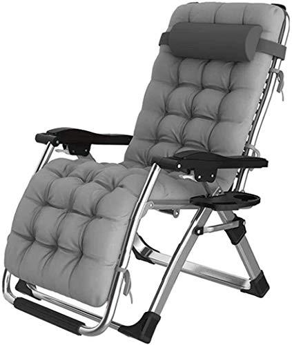 FTFTO Office Life Liegestühle Schwerelose Stühle mit Kissen Liege Sonnenliege Gartenstuhl Verstellbare Klapp Sling Deck Liege Super breite Stühle für Patio Camping