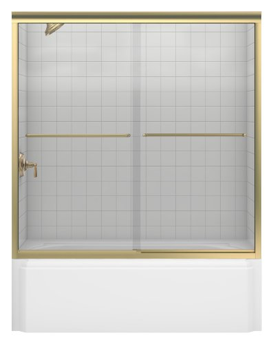 %7 OFF! KOHLER K-702200-L-ABV Fluence Frameless Bypass Bath Door, Anodized Brushed Bronze