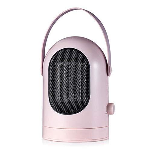 RUIMA Mini Wärmer- Keramik Heizung Kopf schütteln Desktop-Heizen und Kühlen Dual-Use 3 Sekunden Geschwindigkeit Thermal Überhitzungsschutz (Color : Pink)