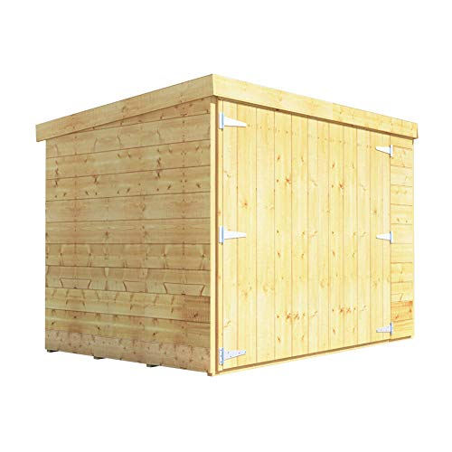 BillyOh Mini Master 6x4 Tongue & Groove Wooden Pent Bike Log Tool Storage Double Door Roof Felt Store Shed