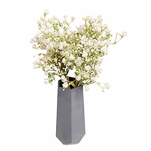Ramo de flores artificiales Gypsophila para manualidades, bodas, fiestas, decoración del hogar, 2 unidades