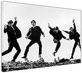 Schwarz und Weiß Die Beatles Springen Leinwand Drucke